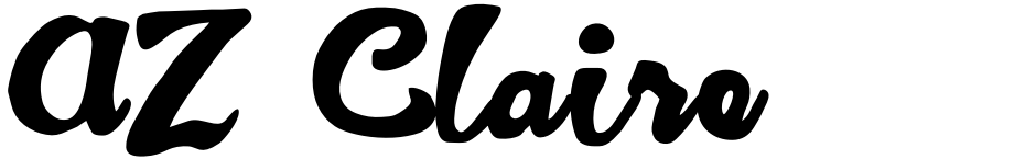 Click to view  AZ Claire font, character set and sample text