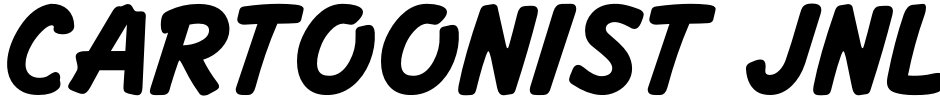Click to view  Cartoonist JNL font, character set and sample text