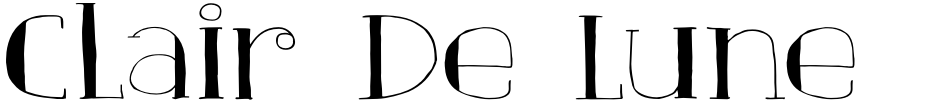Click to view  Clair De Lune font, character set and sample text
