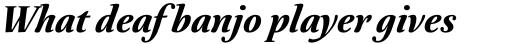 Australis Pro Bold Italic sample