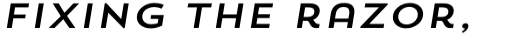 Trend Sans One Italic sample