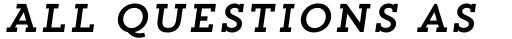 Trend Slab One Italic sample