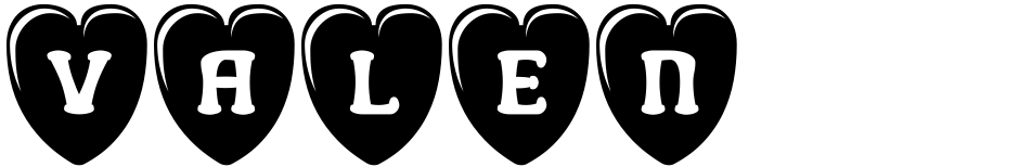 Click to view  Valentine's Letters font, character set and sample text