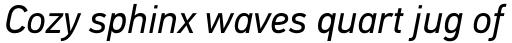 PF DIN Text Std Italic sample