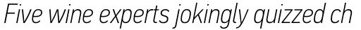 PF DIN Text Cond Std Thin Italic sample