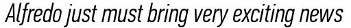 PF DIN Text Comp Std Light Italic sample