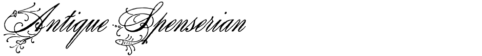 Click to view  Antique Spenserian font, character set and sample text
