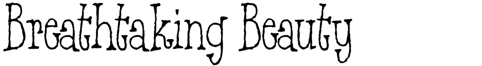Click to view  Breathtaking Beauty font, character set and sample text