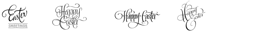Click to view  FM Easter Pro font, character set and sample text
