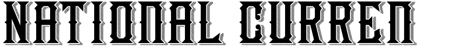 Click to view  National Currency font, character set and sample text