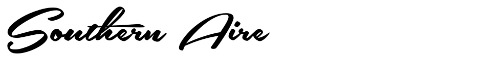 Click to view  Southern Aire font, character set and sample text