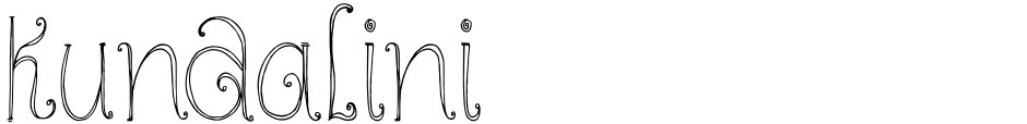 Click to view  Kundalini font, character set and sample text