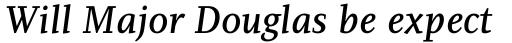 PF Diplomat Serif Medium Italic sample