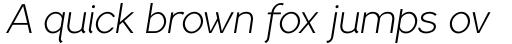 PF Lindemann Sans Light Italic sample