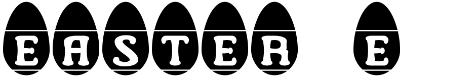 Click to view  Easter Egg Letters font, character set and sample text