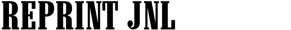 Click to view  Reprint JNL font, character set and sample text