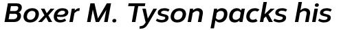 Corbert Bold Italic sample