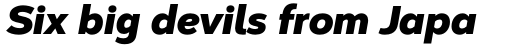 Corbert Black Italic sample