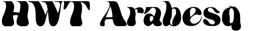 Click to view  HWT Arabesque font, character set and sample text