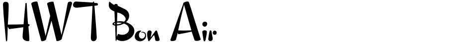 Click to view  HWT Bon Air font, character set and sample text