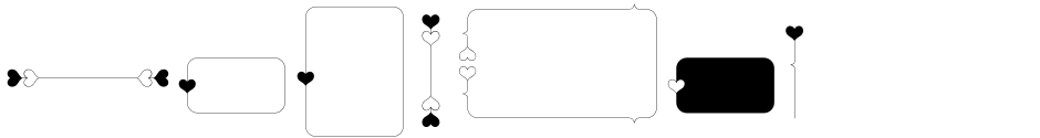 Click to view  Only You Icons font, character set and sample text
