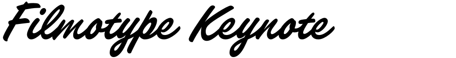 Click to view  Filmotype Keynote font, character set and sample text