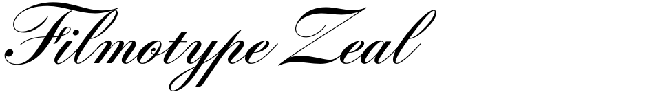 Click to view  Filmotype Zeal font, character set and sample text