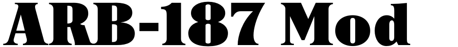 Click to view  ARB-187 Moderne Caps AUG-47 font, character set and sample text