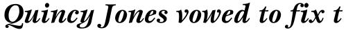ITC Esprit Bold Italic sample