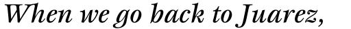 ITC Esprit Medium Italic sample