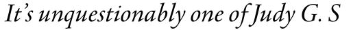 Agmena Pro Book Italic sample