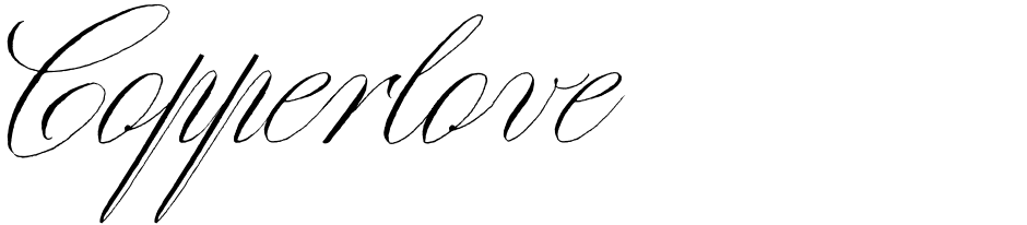 Click to view  Copperlove font, character set and sample text