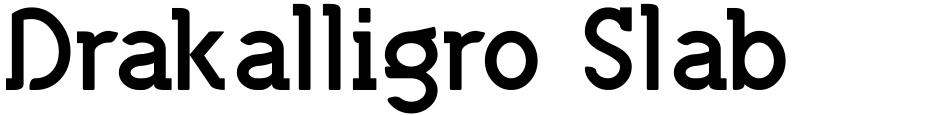 Click to view  Drakalligro Slab font, character set and sample text
