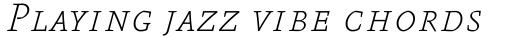 FF Absara Pro Thin Italic SC sample