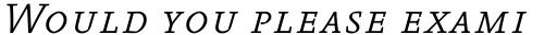 FF Absara Pro Light Italic SC sample