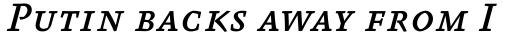 FF Absara Pro Medium Italic SC sample