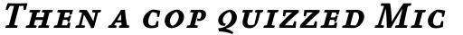 FF Absara Pro Bold Italic SC sample