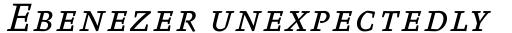 FF Absara Pro Regular Italic SC sample