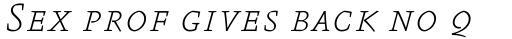 FF Absara Std Thin Italic SC sample