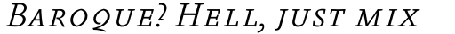 FF Absara Std Light Italic SC sample