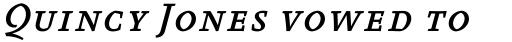 FF Absara Std Medium Italic SC sample