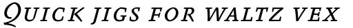 FF Absara Std Regular Italic SC sample