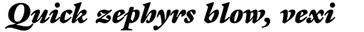 ITC Galliard Std Ultra Italic sample