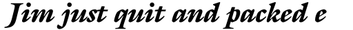ITC Galliard Std Black Italic sample