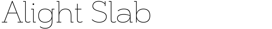 Click to view  Alight Slab font, character set and sample text