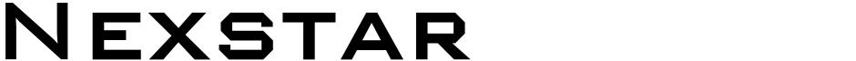 Click to view  Nexstar font, character set and sample text