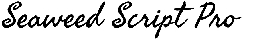 Click to view  Seaweed Script Pro font, character set and sample text