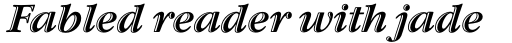 ITC Garamond Handtooled Bold Italic sample