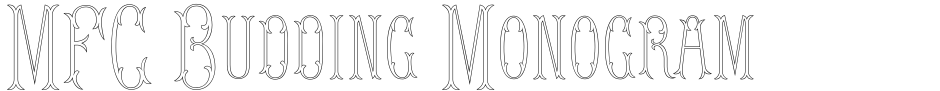 Click to view  MFC Budding Monogram font, character set and sample text