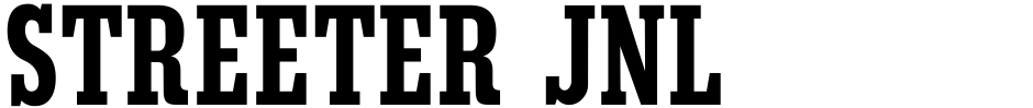 Click to view  Streeter JNL font, character set and sample text